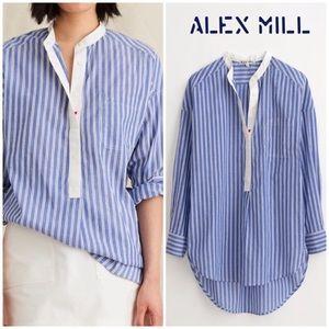 NEW Alex Mill striped popover tunic top